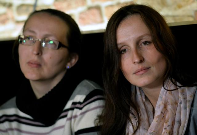Eva Michaláková a její sestra Zuzana Sovková , která také usilovala o svěření chlapců do péče. (ČTK)