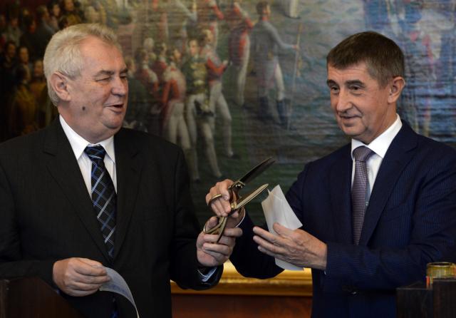 Miloš Zemana a Andrej Babiš  (ČTK)