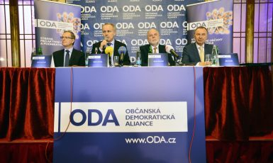 Tisková konference ODA (Zbyněk Pecák)