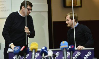 Píáristé Andreje Babiše Vladimír Vořechovský (vlevo) a Marek Hanč  (Zbyněk Pecák)