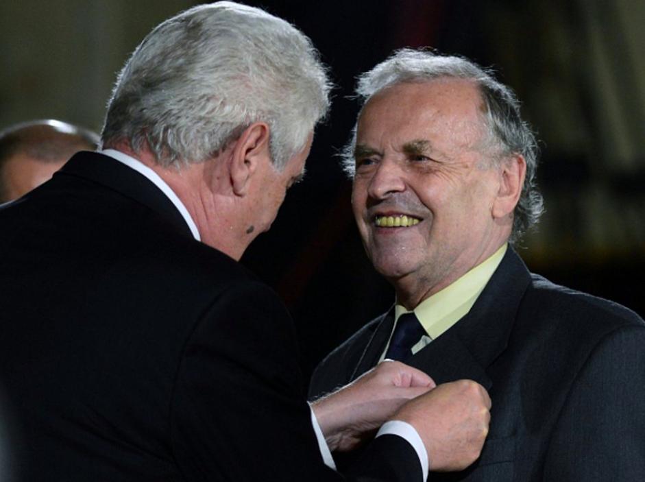 Karel Srp a Miloš Zeman (ČTK)