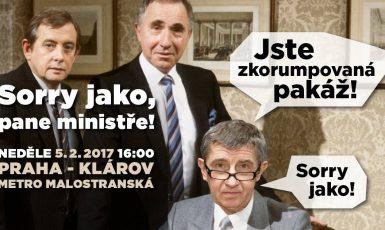 """Organizátoři shromáždění """"Sorry jako, pane ministře!ů"""