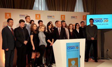 Tisková konference ČSSD k představení projektu Česko 20+ (Adam Slavkovský)