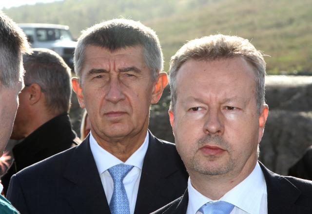Andrej Babiš a jeho oblíbený ministr životního prostředí Richard Brabec (ČTK)