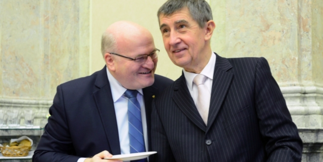 Daniel Herman a Andrej Babiš  (ČTK)