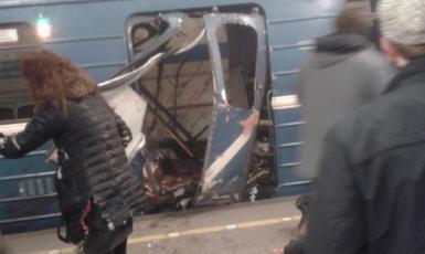 Výbuch v Petrohradě (ČTK)