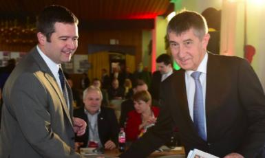 Andrej Babiš a Jan Hamáček (ČTK)