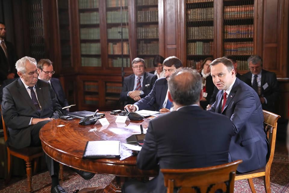 Setkání prezidentů V4 v Polsku (fot. Andrzej Hrechorowicz/KPRP)