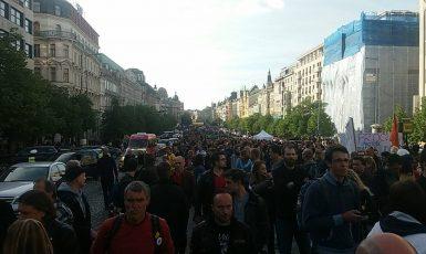 Demonstrace na Václavském náměstí (Vilém Besser)