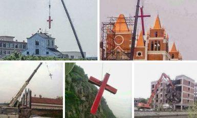 Čínský režim sundává kříže z kostelů (http://www.christianitytoday.com)