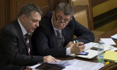 Lubomír Zaorálek a Andrej Babiš (ČTK)
