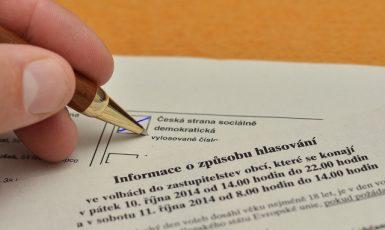 Volební lístek (ČTK)
