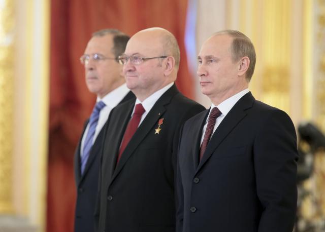 Vladimír Remek a Vladimir Putin (ČTK)