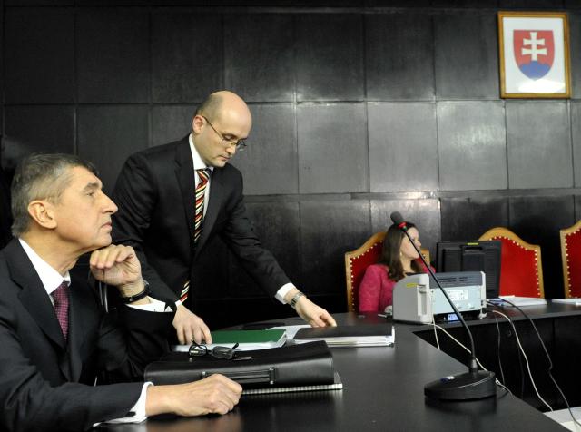Andrej Babiš u Krajského soudu Bratislava kvůli evidenci ve svazcích StB. (ČTK)