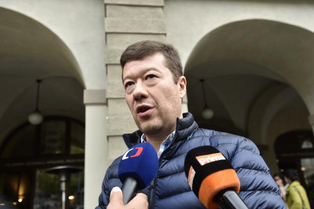 Předseda hnutí Svoboda a přímá demokracie (SPD) Tomio Okamura  (ČTK)
