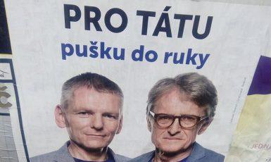 Volební plakát strany Realisté z roku 2017 (FORUM 24)