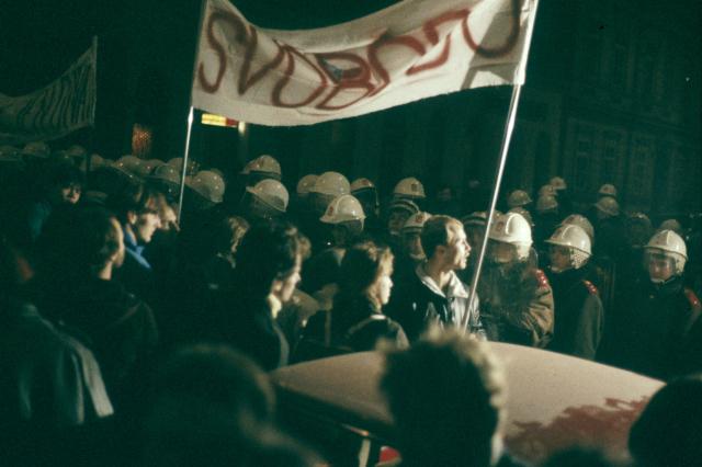 17. listopad 1989 na Národní třídě (ČTK)