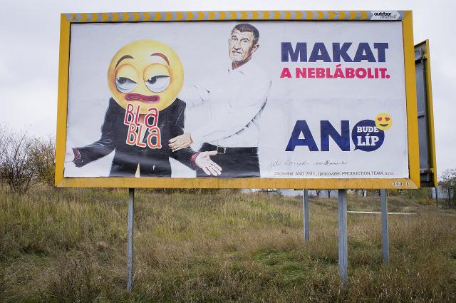 Kampaň hnutí ANO proti politikům (ČTK)