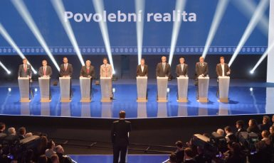 Superdebata předsedů a lídrů politických stran před volbami (ČTK)