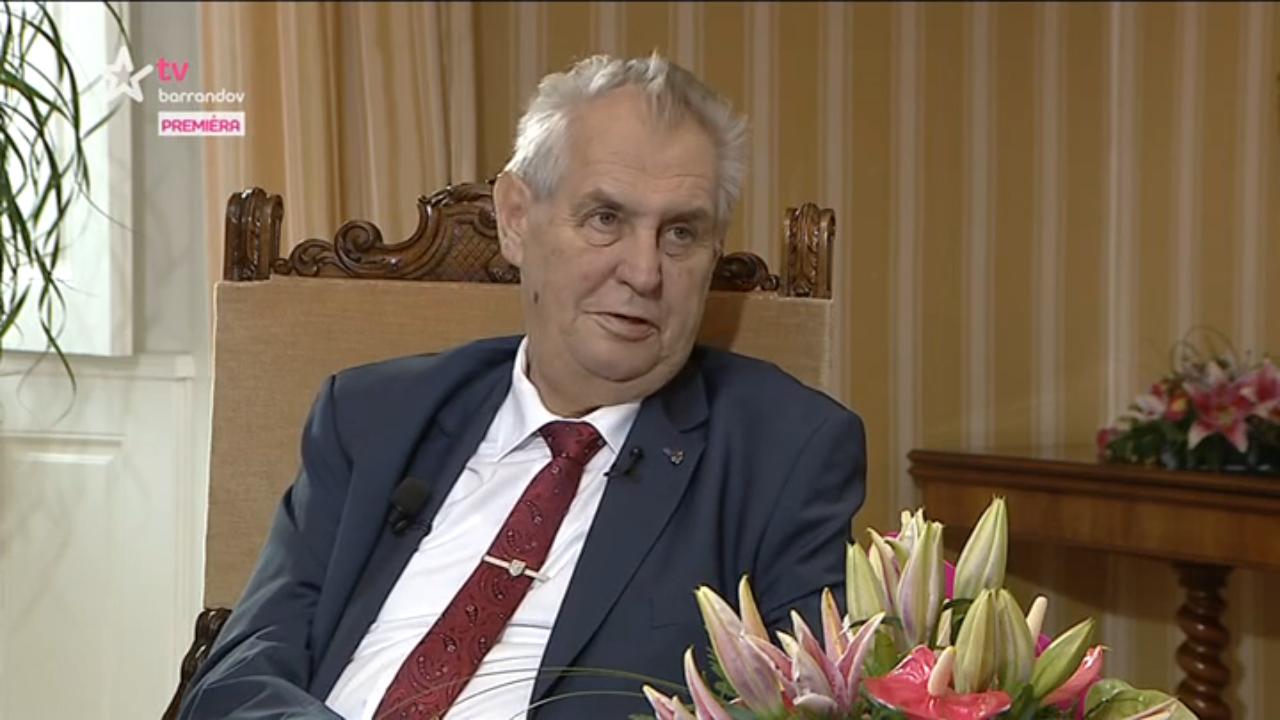 Miloš Zeman v Týdnu s prezidentem (repo TV Barrandov)