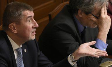 Předseda vlády Andrej Babiš v Poslanecké sněmovně  (ČTK)