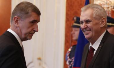 Prezident Miloš Zeman a premiér Andrej Babiš (ČTK)