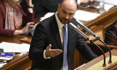 Předseda volební komise Martin Kolovratník (ANO) (ČTK)