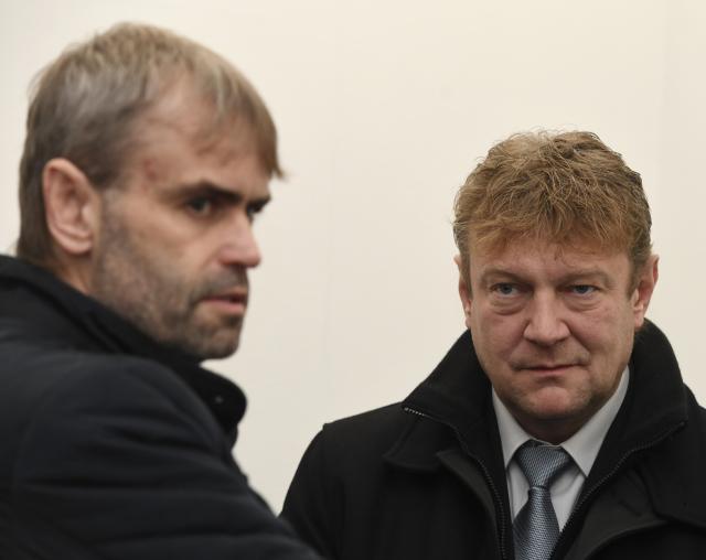 Bývalí policisté ÚOOZ Robert Šlachta a Jiří Komárek (ČTK)