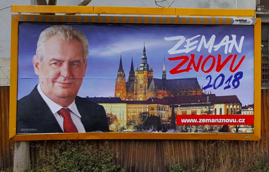 Billboardy Zeman znovu (ČTK)