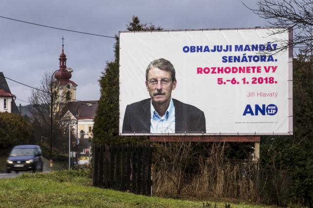 Volební kampaň kandidáta hnutí ANO Jiřího Hlavatého (ČTK)