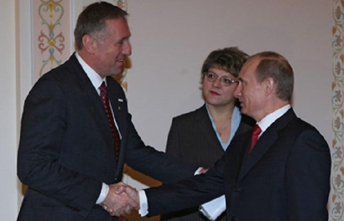 Mirek Topolánek (vlevo) a Vladimir Putin (Official Website of the Government of the Russian Federation)