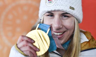 Zlatá Ester Ledecká (ČTK)