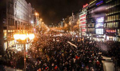Demonstrace na Václavském náměstí (Pavel Hofman)