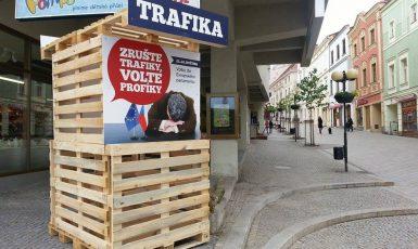Volební kampaň hnutí ANO proti trafikám (FB ANO)