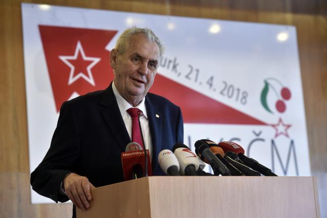 Prezident Miloš Zeman sjezdu KSČM (ČTK)