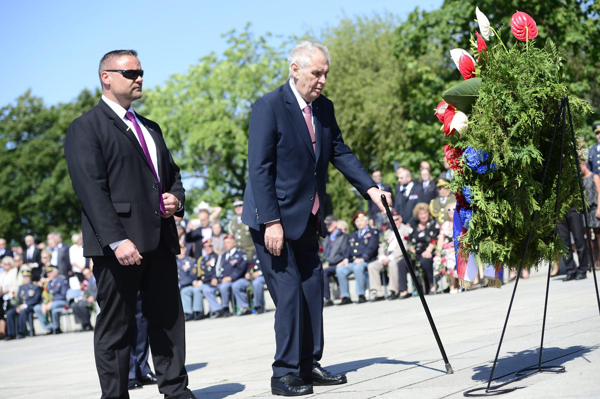 Miloš Zeman na Vítkově v roce 2018 (Zbyněk Pecák)