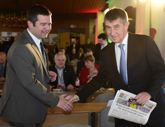 Předseda ČSSD Jan Hamáček a předseda hnutí ANO Andrej Babiš  (ČTK)