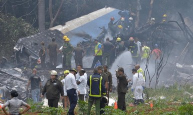 Letecká tragédie na Kubě (Twitter)