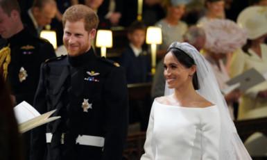 Britský princ Harry a americká herečka Meghan Markleová si řekli ano na královském hradě Windsor.  (ČTK)