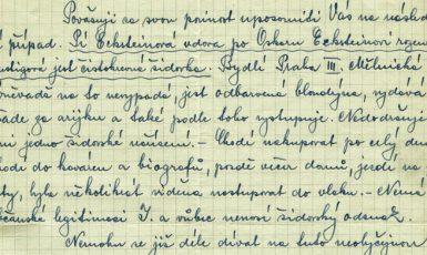Národní archiv, Policejní ředitelství Praha II – všeobecná spisovna 1941 – 1950, sign. E 258/3, kart. 1906.
