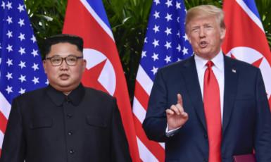 Setkání amerického prezidenta Donalda Trumpa s vůdcem Severní Koreje Kim Čong-unem (ČTK)