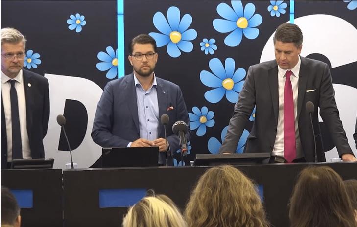 Švédští demokraté dělají všechno proto, aby působili jako normální strana.  (sd.se/presentation-av-valmanifest)