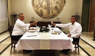 Andrej Babiš a Viktor Orbán (FB)