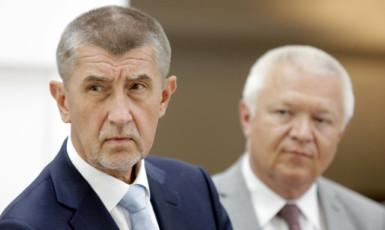 Premiér Andrej Babiš a první místopředseda ANO Jaroslav Faltýnek  (ČTK)