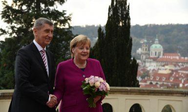 Premiér Andrej Babiš při setkání s německou kancléřkou Angelou Merkelovou v Praze  (ČTK)