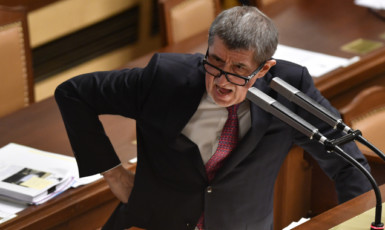 Premiér Andrej Babiš v poslanecké sněmovně  (ČTK)