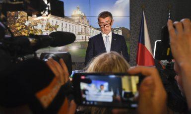 Tisková konference premiéra Babiše  (ČTK)