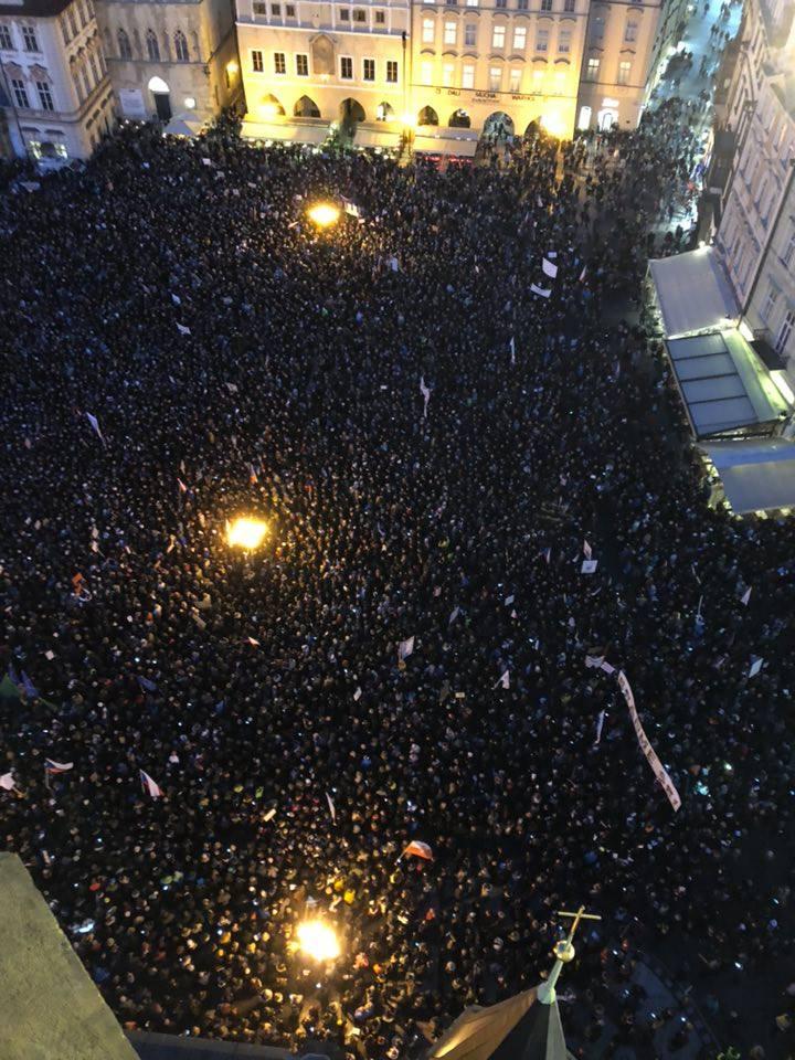 Fotografie Staroměstského náměstí Michala Majznera