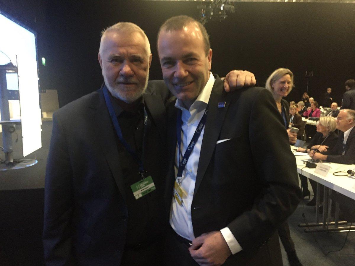 Jaromír Štětina a Manfred Weber (Twitter Jaromíra Štětiny)