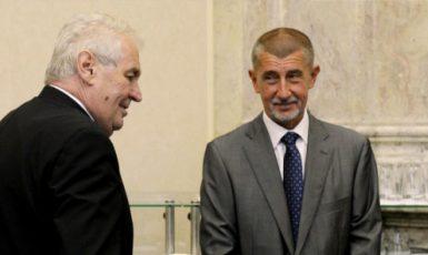 Miloš Zeman a Andrej Babiš (ČTK)